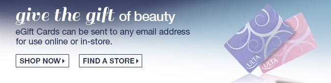 Give the gift of beauty - E-Gift Cards