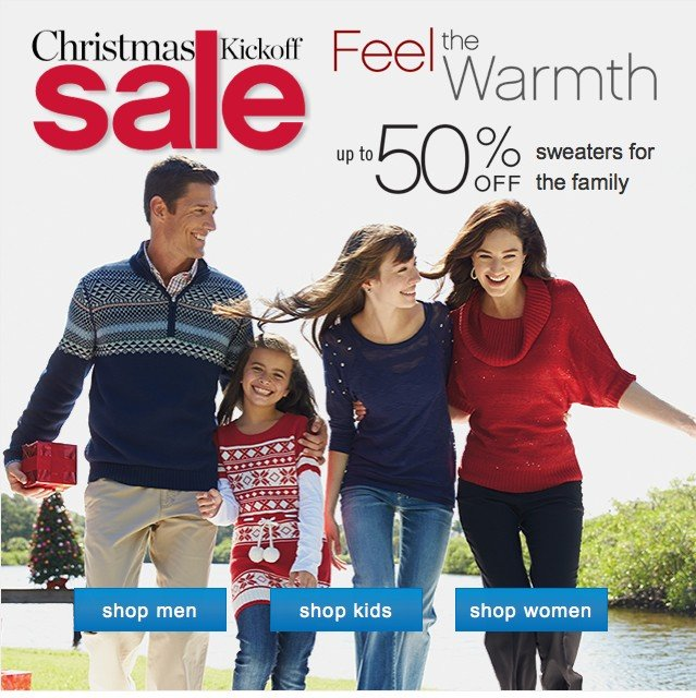 Feel the Warmth up to 50% off. Shop swaters.