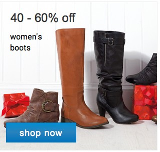 40-60% off women's boots. Shop now.