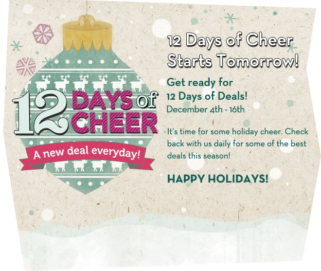 Get Ready for 12 Days of Cheer!