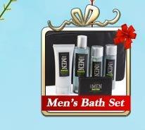 men's bath set