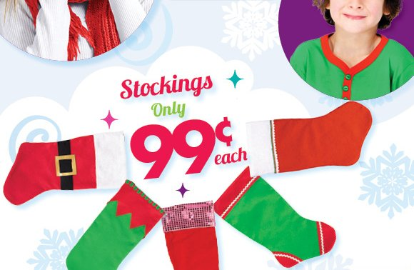 STOCKINGS ONLY 99¢EACH