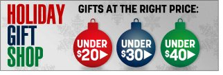 holiday gift shop - gifts at the right price - click the link below