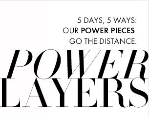 5 DAYS, 5 WAYS Our Power Pieces Go The Distance  POWER PLAYERS