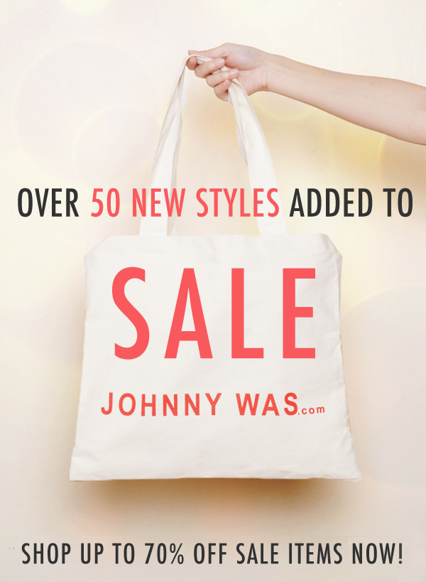 Over 50 New Items Added to Sale!