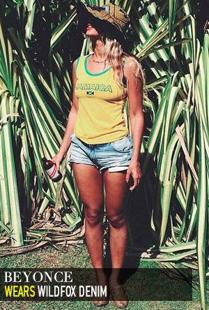 Beyonce in Wildfox Denim