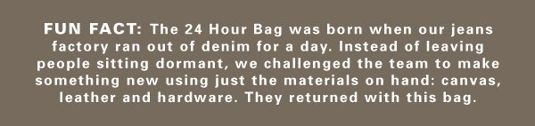 We presented our factory with a challenge and they returned with this bag.