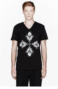 ANN DEMEULEMEESTER Black logo-printed t-shirt for men