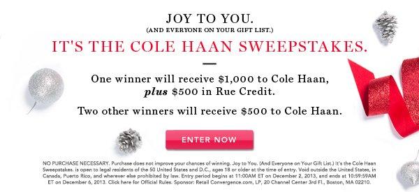 Cole Haan Sweeps