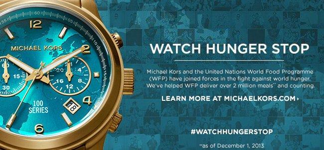 Michael Kors: Watch Hunger Stop
