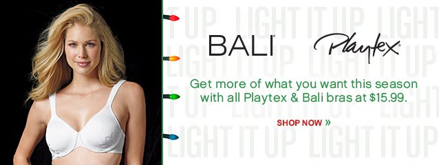 ALL Bali & Playtex Bras $15.99! Shop Now
