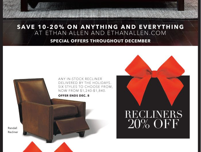 20% off recliners