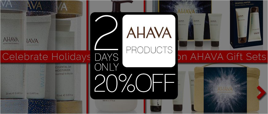 Celebrate the Holidays with Limited Edition AHAVA Gift Sets + 20% Off AHAVA Products - 2 Days Only