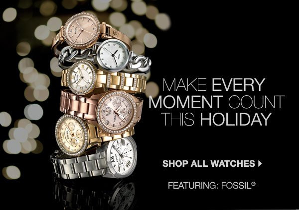 Make every moment count this holiday. Shop all watches.