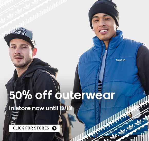 50% off outerwear, in-store until 12/18! Click for stores.