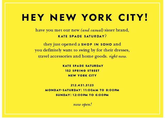hey new york city have you met our new sister brand. now open.