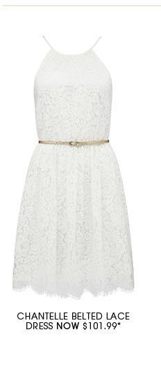 Chantelle Belted Lace Dress