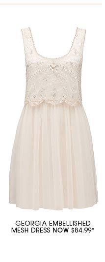 Georgia Embellished Mesh Dress