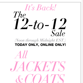 Up to 60% Off All Jackets & Coats + Extra 30% Off Everything Else + FREE Shipping!