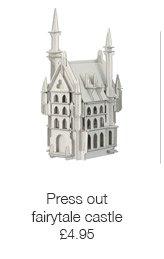 Press out fairytale castle