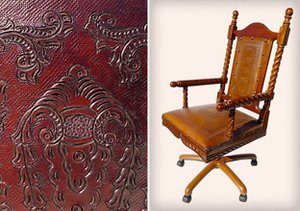 New World Carved Leather & Wood