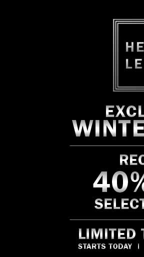 EXCLUSIVE WINTER SALE