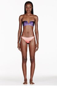 WE ARE HANDSOME Purple & Coral The Landing Gathered Bikini for women