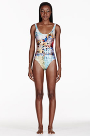 WE ARE HANDSOME Turquoise The Township Printed One Piece Swimsuit for women