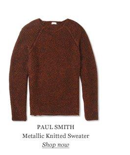 PAUL SMITH Metallic Knitted Sweater