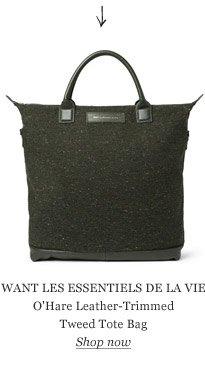 WANT LES ESSENTIELS DE LA VIE O'Hare Leather-Trimmed Tweed Tote Bag