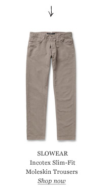 SLOWEAR Incotex Slim-Fit Moleskin Trousers