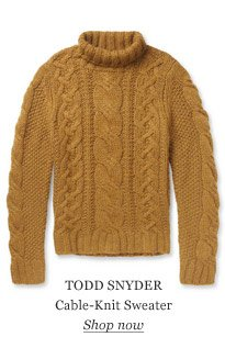 TODD SNYDER Cable-Knit Sweater