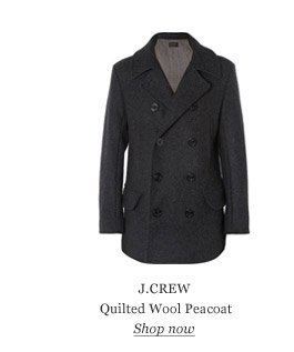 J.CREW Quilted Wool Peacoat