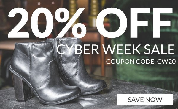Save 20% Off with Coupon Code CW20