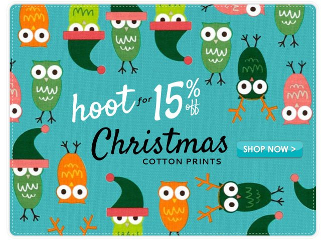 15% Off Christmas Cotton Prints