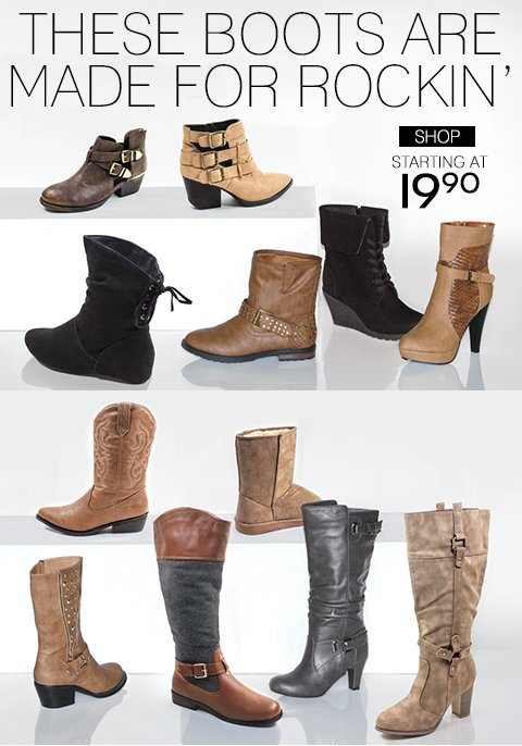 Shop New Boots + Free Shipping with any Regular Price Purchase