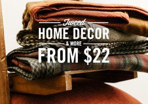 Shop Tweed Home Decor & More from $22