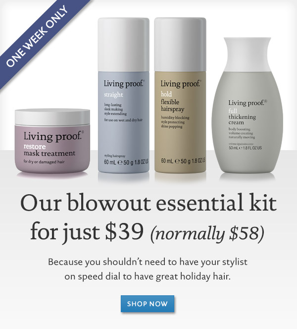Online exclusive: Holiday hair blowout kit for only $39 (normally $58)