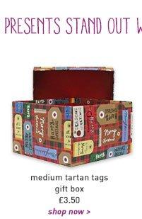 medium tartan tags gift box