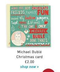 michael buble christmas card