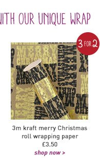 3m kraft merry christmas roll wrapping paper