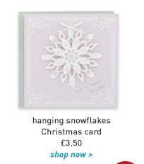 hanging snowflakes christmas card