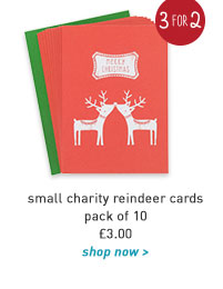 small charity reindeer cards - pack of 10