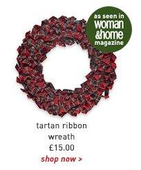 tartan ribbon wreath
