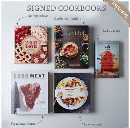 Exclusive Signed Cookbooks