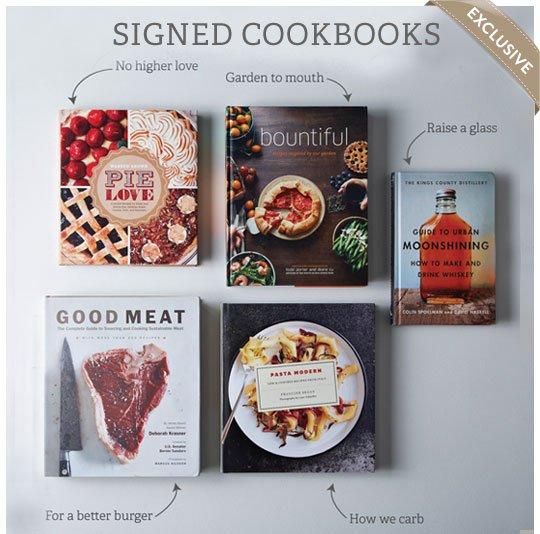 Exclusive Signed Cookbooks