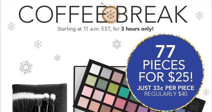 Coffee Break 77 Pieces For  $25