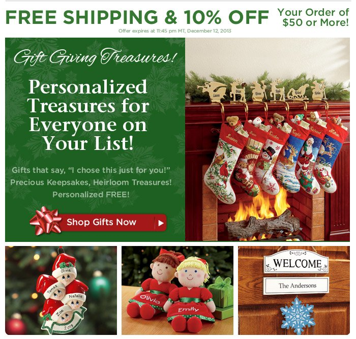 The 12 Days of Christmas Savings — Personalized Gifts for Everyone!