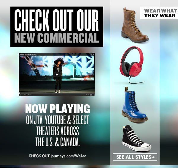 Hot Styles from the NEW Journeys Commercial!