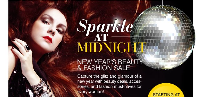 Sparkle at Midnight: New Year's Beauty & Fashion Sale